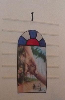 In der Kirche an der Gesangstafel...