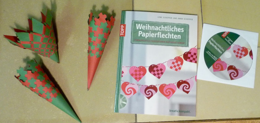 Gebastelte Kegel aus dem neuen Buch (beim Tag des Buches bestellt).