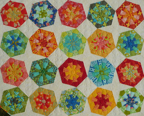 Mein Lieblings Jelly Roll Quilt.