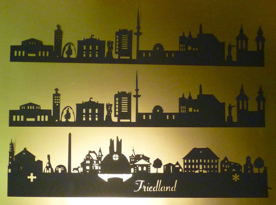 Die Skyline von Friedland und Göttingen.