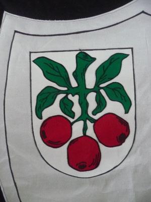 Ein Wappen aus der Nähe.