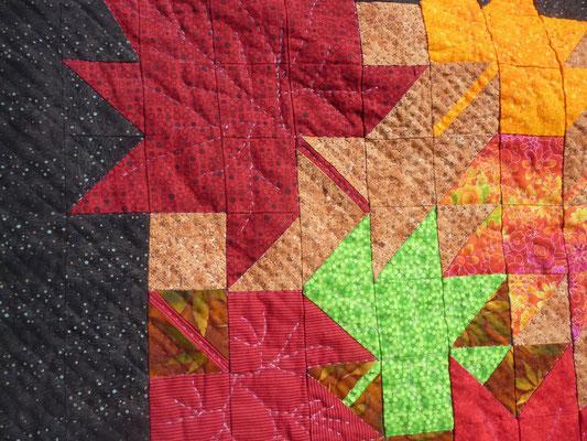 Detail von meinem handgequilteten Quilt.