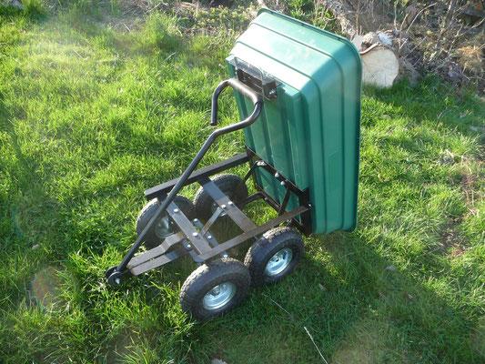 Unser neuer Bollerwagen: ganz irres Patent! Den finde ich so klasse!