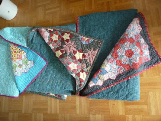 Meine drei Quilts  sind aus Nantes zurück gekommen. Alle drei La Passacaglia sind wieder da!