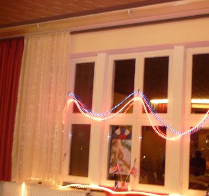Die Fahnen und Lichterketten haben mir sehr gut gefallen!