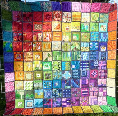 Mein Tula Pink City Sampler 100 modern blocks: Zehn Tage und keine Minute länger!