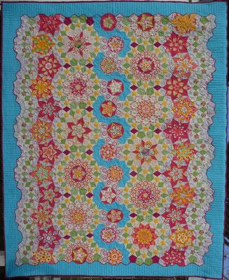 La Passacaglia - Der Musterfall - Ein Penrowsquilt - Auch der Quilt wurde in Nantes gezeigt!