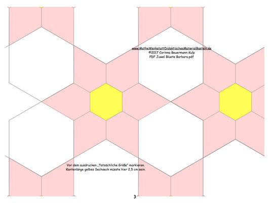 Hier sind die Zeichnungen für die Juwel Blüte.