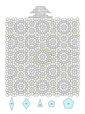 Mandala 4 mit EPP Schablonenzahl drin, grüne Rosette Durchmesser ca. 59 cm, Endgröße ca. 241 cm x 245 cm, ohne Gewähr!