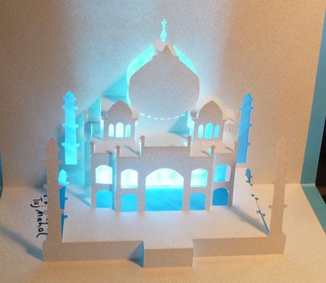 Kirigami Taj Mahal