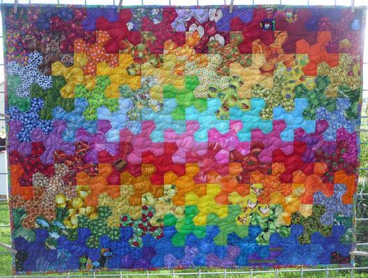 Rainbow Crib Quilt
