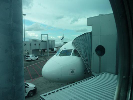 Unser Flugzeug in Helsinki