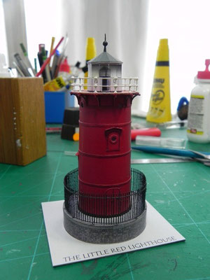 Jeffrey's Hook Lightohouse, papershipwright, 1:125