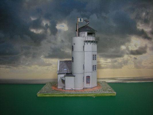 Leuchtturm Krautsand, kartonwerft.de 1:250