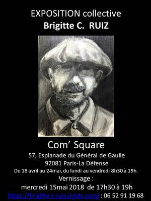 exposition collective petit format , La Défense, Paris.Mai2018
