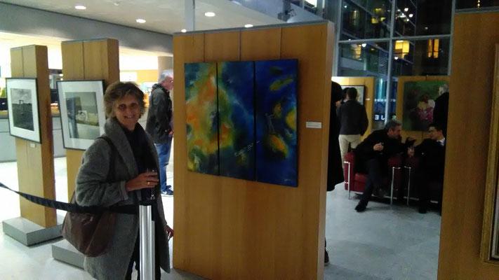 2019 exposition collective . Rueil- Malmaison. Vernissage du Prix Emilio Koukidis.