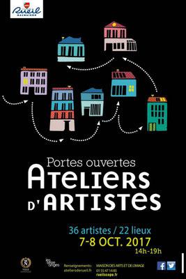 Participation aux portes ouvertes d'ateliers d'artiste,  Rueil-Malmaison oct 2017