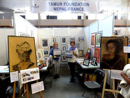 Expovente au forum des associations, Rueil-Malmaison sept 2015, au profit de l'association Tamur Foundation Nepal -France
