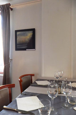 Exposition au restaurant  La Ficara , Rueil-Malmaison, 2017. au profit de l'association Tamur Foundation Nepal -France