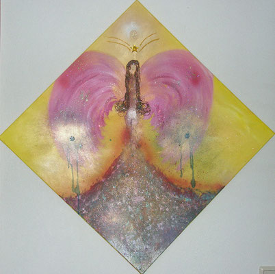 Mystik Angel   Größe 70x70cm