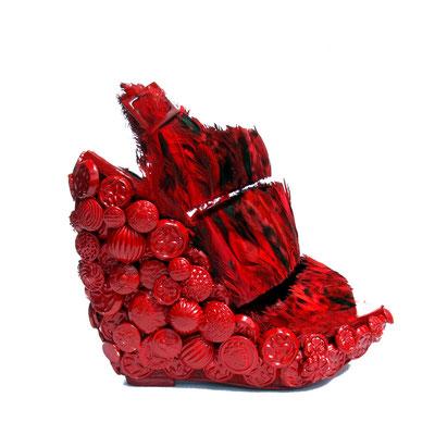 Virago Red Flame Platform Sandal