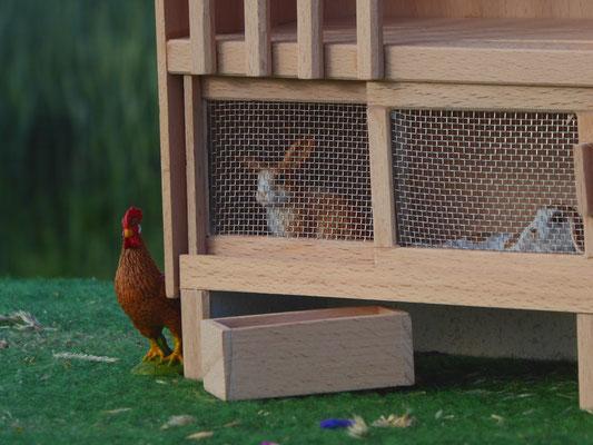 Schleich Kaninchen im Holzstall