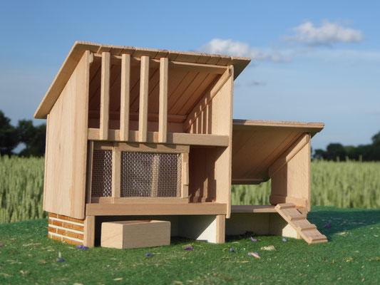 Kaninchenstall aus Holz