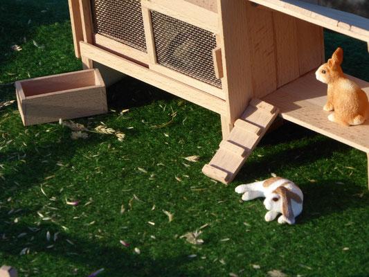 Kaninchenstall im Maßstab Schleich