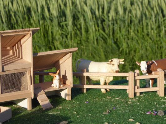 Schleich Bauernhof aus Holz