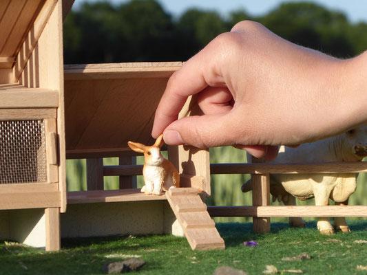 Holzställe für Schleich Tiere