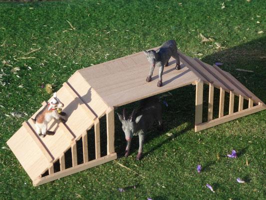 Klettermöglichkeit für Ziegen