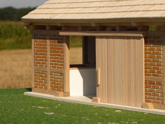 Holz Remise für Modellpferde
