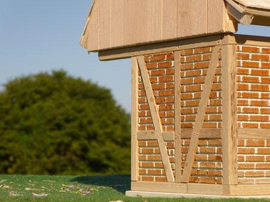 Fachwerk der Remise aus Holz