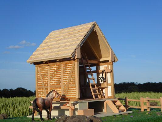 Sattelkammer aus Holz für Schleich, Bullyland oder CollectA