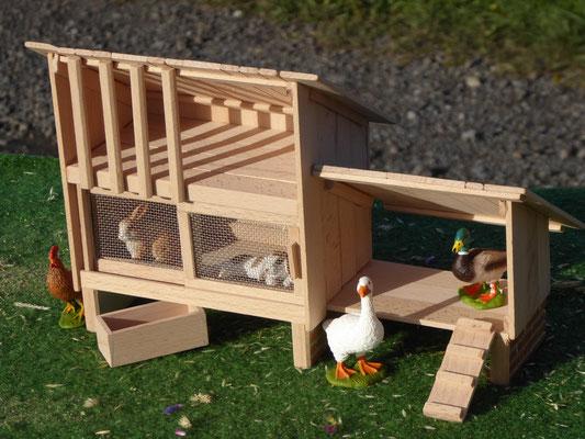 Enten und Hühner Stall für Schleich