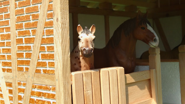 Die Remise für große und kleine Pferde Fans- Pferdestall für Schleich