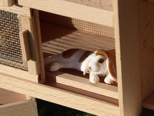 Holzstall für Schleich Kaninchen