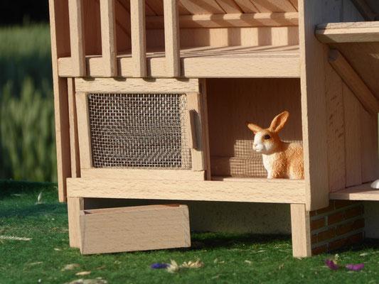 Schleich Kaninchen mit Holz Stall