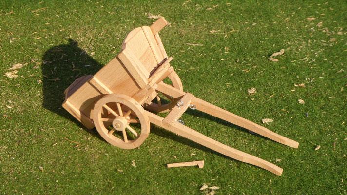 Kutsche aus Holz für Schleich Kaltblüter