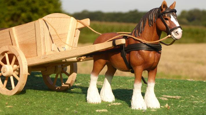 Geschirr aus Leder für Schleich Pferd