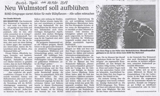Buxtehuder Tageblatt am 14.02.2017