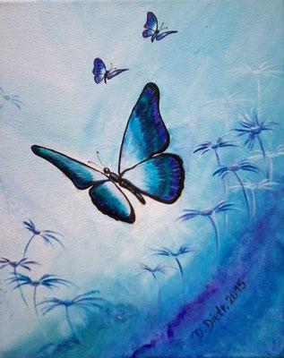 Butterfly in Blue   30x24cm   Acryl auf Leinwand   € 50,00