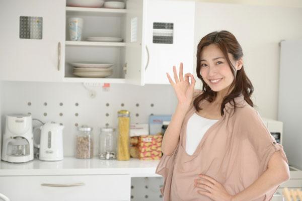 時短家事ができるキッチンと女性