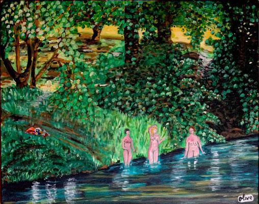 Les baigneuses dans la Vézère