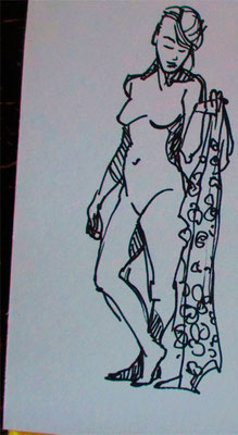 modeldrawing   5 minutes with marker