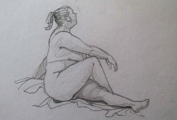 modeldrawings | 20 minutes pencil Wah! it's almost the same pose!!!