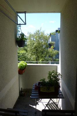 Einer von zwei Balkons in den WGs