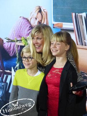 Cecilia Kunz mit ihren Kindern Gretchen Wortmann und Hugo Wortmann