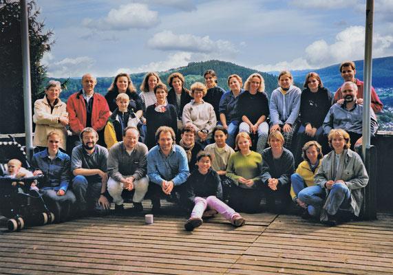 Chorausflug 1996 auf der Freiburg