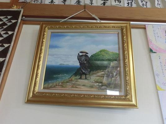 門徒さんの作品(風に立つ親鸞聖人)